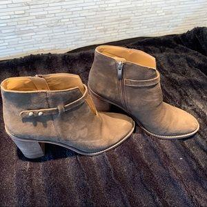 Franco Sarto Nubuck leather ankle bootie.